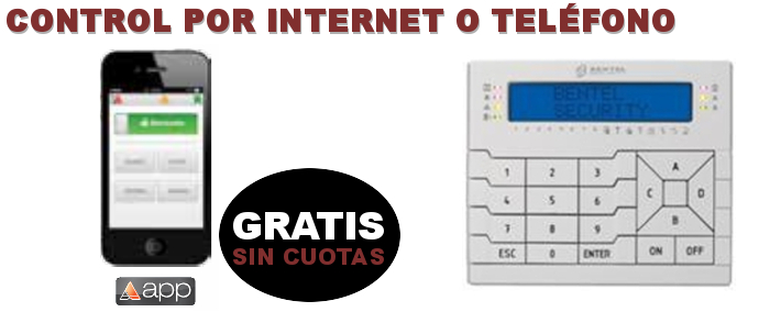 Control de alarma por Internet