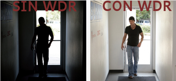 diferencias WDR activo y sin activar
