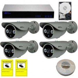 Kit videovigilancia IP con disco duro
