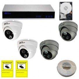 Kit videovigilancia IP domo con disco duro