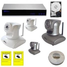 Kit videovigilancia IP domo motorizado con disco duro
