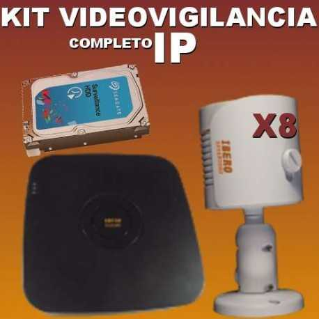 Kit videovigilancia IP KITIP8B-IS