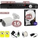 Kit videovigilancia 16 cámaras asequible
