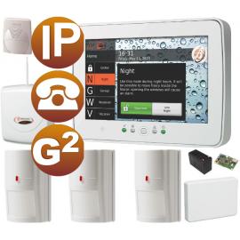 Kit alarma IP PSTN Grado 2 pantalla táctil