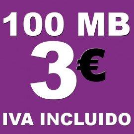 BONO 100MB 4G LTE por 3 euros iva incluido