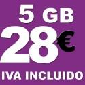 BONO 5GB 4G LTE por 28 euros iva incluido
