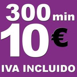 BONO voz móvil 300 minutos 10 euros iva incluido