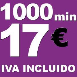 BONO voz móvil 1000 minutos 17 euros iva incluido
