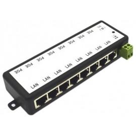 Inyector PoE de 8 canales