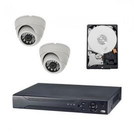 Kit videovigilancia ultraeconómica 2 cámaras