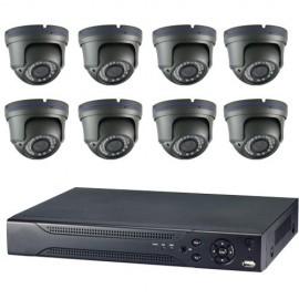 Kit videovigilancia ultraeconómica 8 minidomos