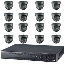 Kit videovigilancia ultraeconómica 16 minidomos