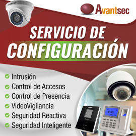 Servicio de configuración Kit de 4 cámaras de videovigilancia (CCTV)