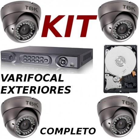 Kit videovigilancia exteriores completo