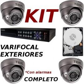 Kit videovigilancia exteriores completo con alarmas