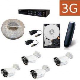 Kit videovigilancia 3G exteriores 4ECO