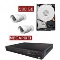 Kit videovigilancia megapíxel KITMEGA2BULL
