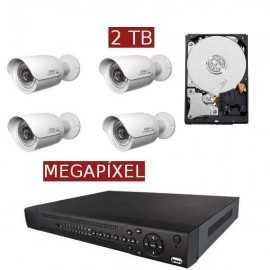 Kit videovigilancia megapíxel KITMEGA4BULL