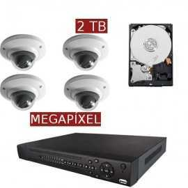 Kit videovigilancia megapíxel KITMEGA4DOM