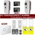 Kit alarma con videovigilancia totalmente inalámbrico