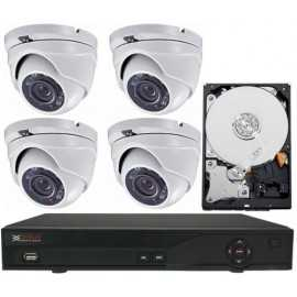 Kit videovigilancia hogar 4x