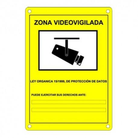 Cartel informativo videovigilancia españa
