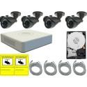 Kit de videovigilancia para exterior o interior REC960HBULL1