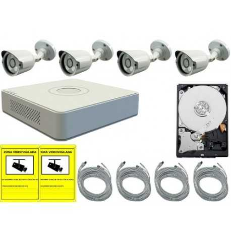 Kit de videovigilancia para exterior o interior REC960HBULL4