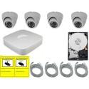 Kit de videovigilancia eco para interior o exterior