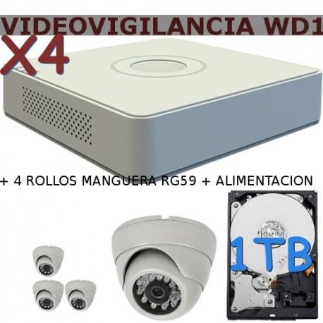 Kit Videovigilancia Wd1x4