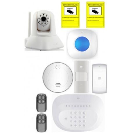 Kit de alarma PSTN inalámbrica y sistema de videovigilancia