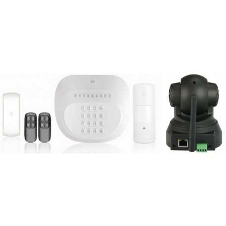 Kit alarma y cámara ip motorizada wifi