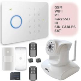 Kit seguridad hogar facil de instalar wifi y GSM